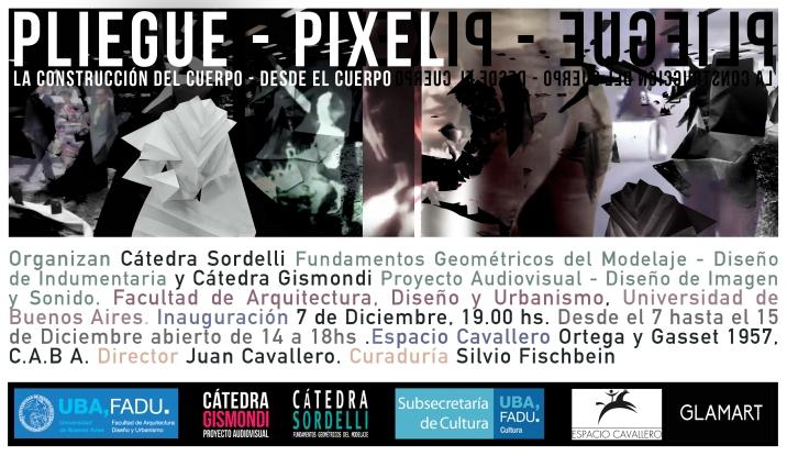 Flyer EXPO Pliegue – Pixel_ Espacio Cavallero